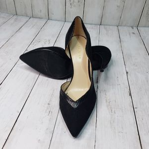 """New! Marc Fisher Black 3½"""" Heels D'Orsey Style"""